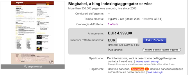 BlogBabel on eBay