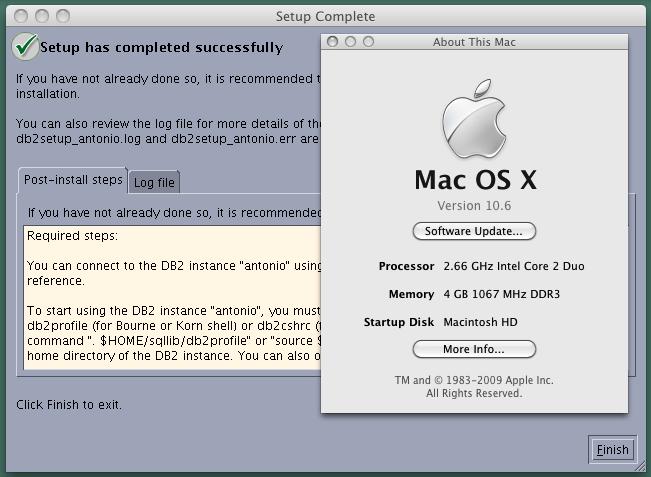 DB2 on Mac OS X Snow Leopard | Programming Zen
